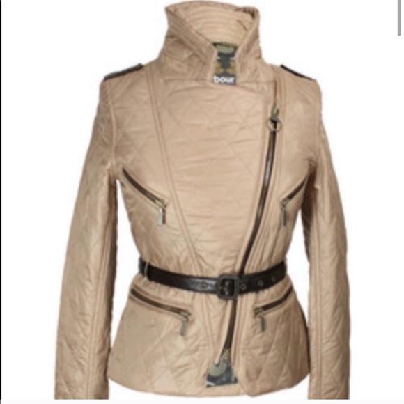 Barbour Temperley Coat Motorcycle Style Jacket